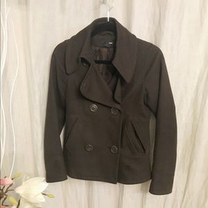 H&M Brown pea coat